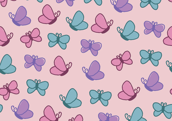 Cute And Girly Pattern Full Of Butterflies - Free vector #436163