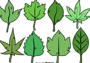 Cartoon Leaves Collection - Kostenloses vector #436203