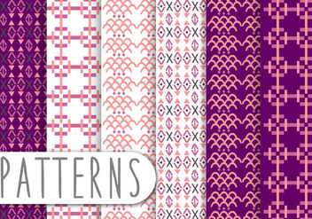 Decorative Pattern Set - vector gratuit #436233