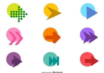 Vector Set Of Colorful Arrow Icons - vector gratuit #436263
