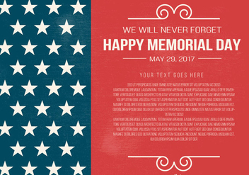Memorial Day Template - vector gratuit #436293