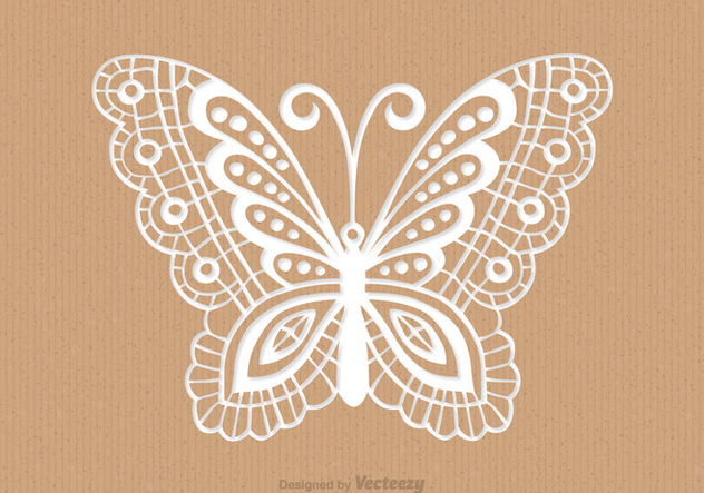 Recycled Paper Card With Laser Cut Mariposa - Kostenloses vector #436313