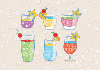 Refreshing Fizz Drink Vectors - бесплатный vector #436333