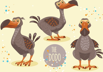 Dodo Bird Cartoon Character Collection - vector gratuit #436363