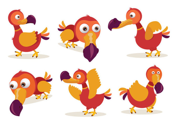 Dodo Cartoon Character Pose Vector Illustration - Free vector #436403
