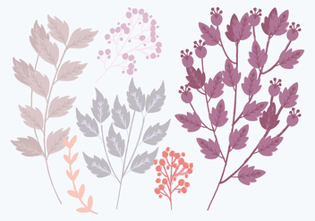 Vector Colorful Branches - vector gratuit #436413