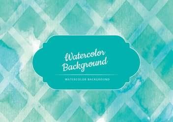 Vector Green Watercolor Background - Free vector #436423