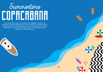 Copacabana Background - vector gratuit #436453