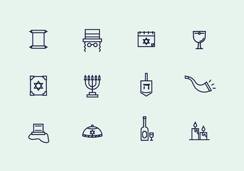 Judaism Outline Icons - Free vector #436503