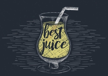Free Hand Drawn Vector Juice Illustration - Free vector #436513