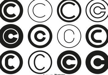 Vector Copyright Symbol Collection - Free vector #436583