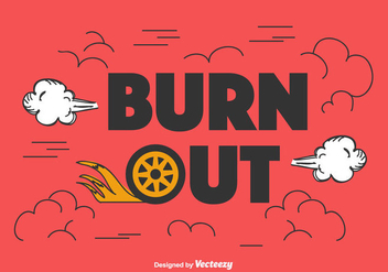 Burnout Vector Background - vector gratuit #436593