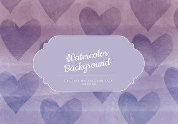 Vector Hearts Watercolor Background - бесплатный vector #436623