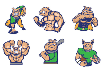 Free Bulldogs Mascot Vector idea for sports - бесплатный vector #436633