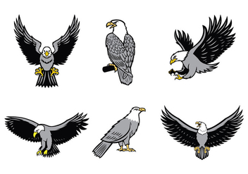 Eagles Mascot Vector Set - Free vector #436643