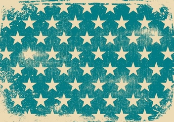Blue Stars Patriotic Grunge Background - Free vector #436763