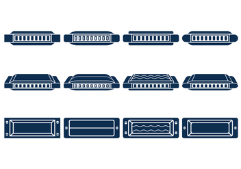 Harmonica Vector Icons Set - Kostenloses vector #436773