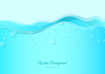 Free Water with Bubbles and Fizz Background - vector gratuit #436783
