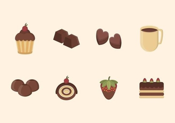 Flat Chocolate Vectors - Free vector #436853