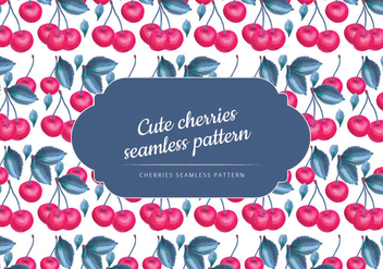 Vector Hand Drawn Cherries Seamless Pattern - vector gratuit #436873