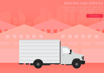 Moving Van or Truck. Transport or Delivery Illustration. - vector #436883 gratis