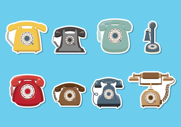 Retro Telephone Vector - vector gratuit #436973