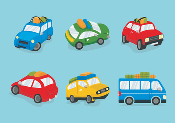 Colorful Carpool Vector illustration - Kostenloses vector #437003