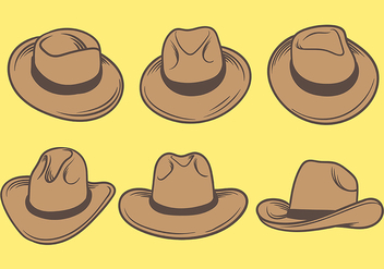 Gaucho Hats Icons Vector - бесплатный vector #437033