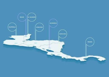 Free Outstanding Central America Map Vectors - vector #437083 gratis