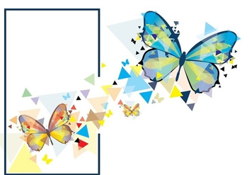Mariposa Mosaic illustration - Free vector #437133
