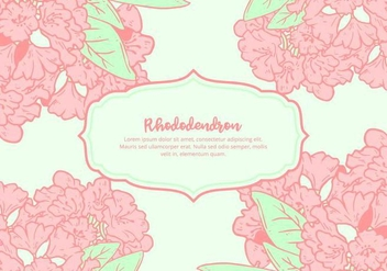 Rhododendron Background - vector gratuit #437153