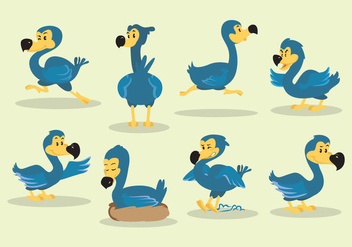 Cartoon Dodo Vector - vector gratuit #437203
