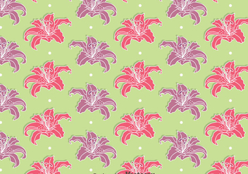 Pink And Purple Rhododendron Flowers Seamless Pattern Vectors - бесплатный vector #437293