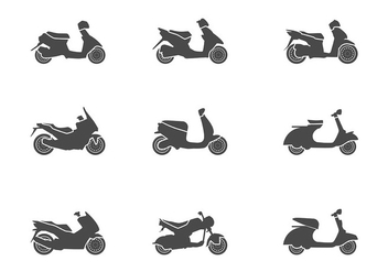 Scooter Icon Vector - Free vector #437303