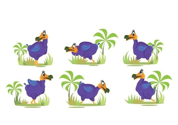 Dodo Habittat Illustration - vector gratuit #437313