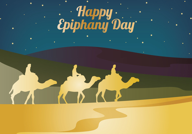 Happy Epiphany Day - vector gratuit #437403