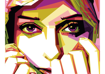 Hijab Girl vector WPAP - бесплатный vector #437453