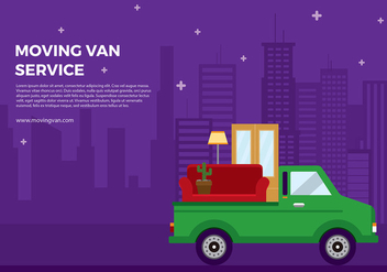 Moving Van Cartoon Free Vector - Kostenloses vector #437473