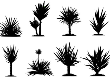Free Yucca Icons Vector - Free vector #437503