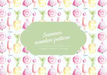 Vector Summer Pattern - Free vector #437513