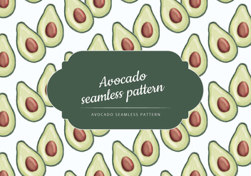 Vector Hand Drawn Avocado Pattern - vector gratuit #437523