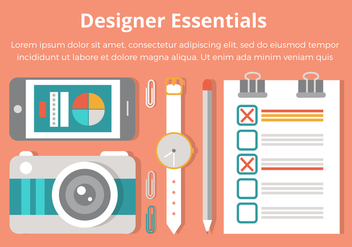 Free Flat Design Vector Designer Essentials - Free vector #437533