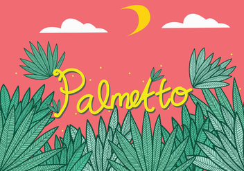 Palmetto Leaves Vector Art - vector gratuit #437713