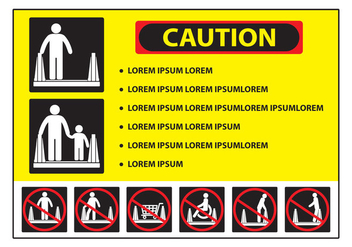 Escalator Caution Sign - vector gratuit #437723