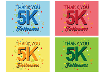 5K Followers - Free vector #437733