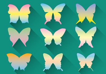 Pastel Butterfly Vector Pack - бесплатный vector #437773