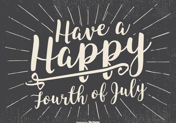 Rero Typographic Happy 4th of July Illustration - vector #437813 gratis