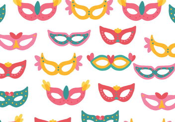 Colorful Masks Pattern - vector gratuit #437863