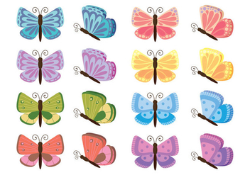 Cartoon Mariposa Vector - Free vector #437893