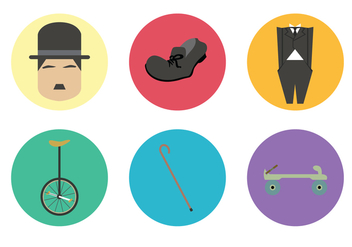 Retro Silent Movie Elements Vector - Free vector #437923
